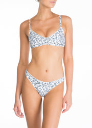 Peony Swimwear Ruched Bralette - Flora