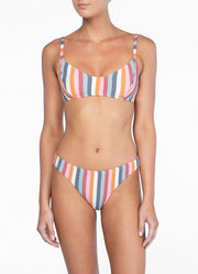 Peony Piped Bralette - Rainbow