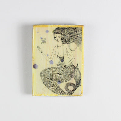 Ahoy Trader Yellow Sinking Flower Mini Tile