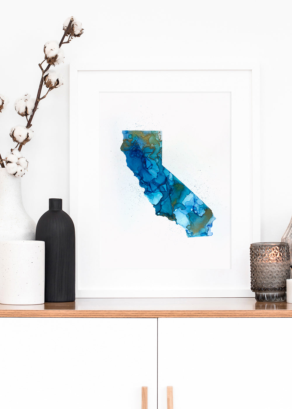 California Alcohol Ink Print