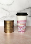 Blush and Periwinkle Hand-Painted Travel Mug