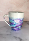Blue and Lilac Hand-Painted Mug