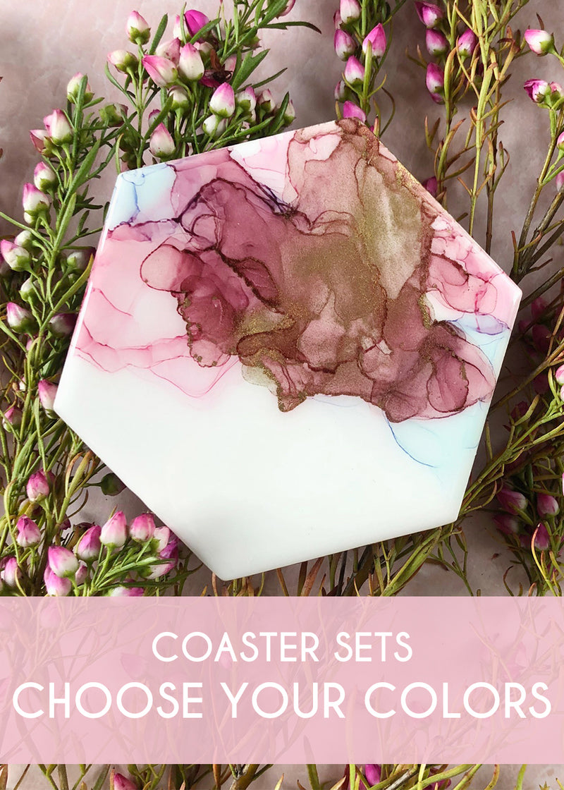 Watercolor Coasters Sets - Choose Your Colors