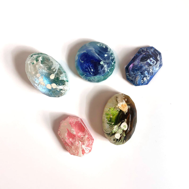 Resin Gemstone Magnets
