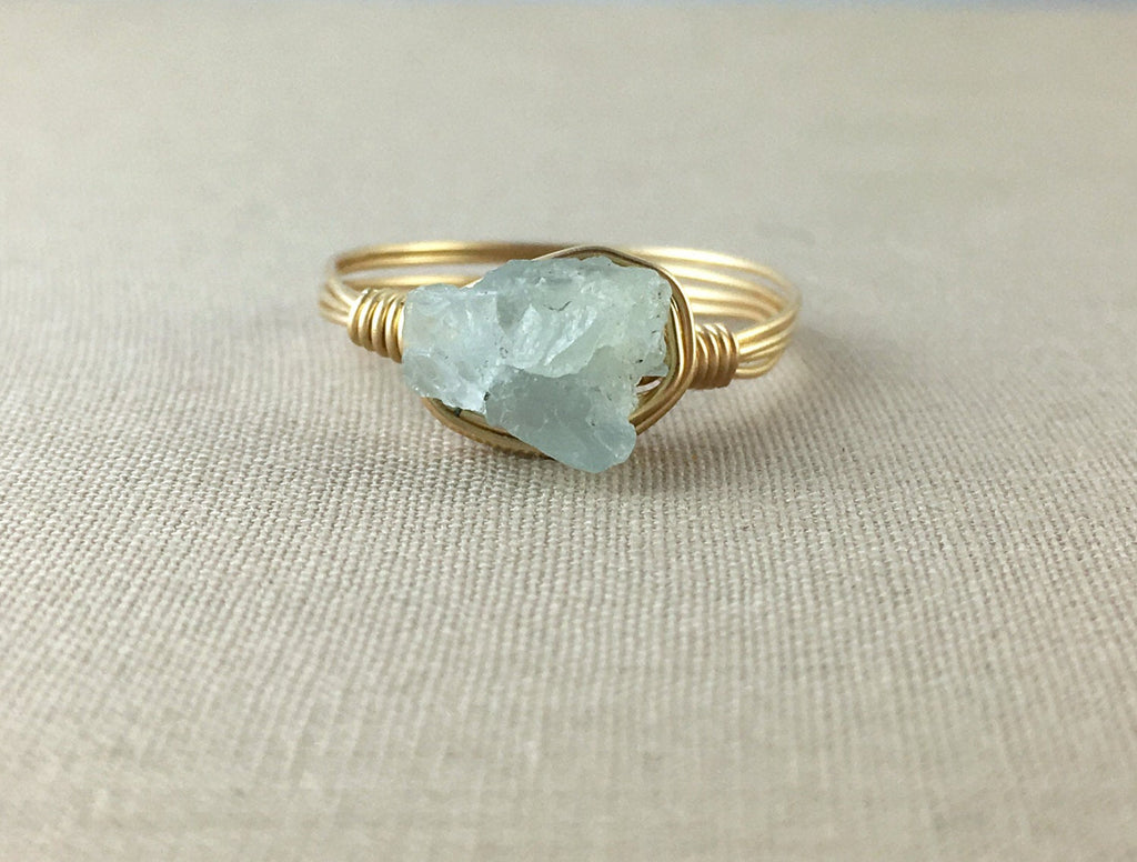 Raw Aquamarine Ring
