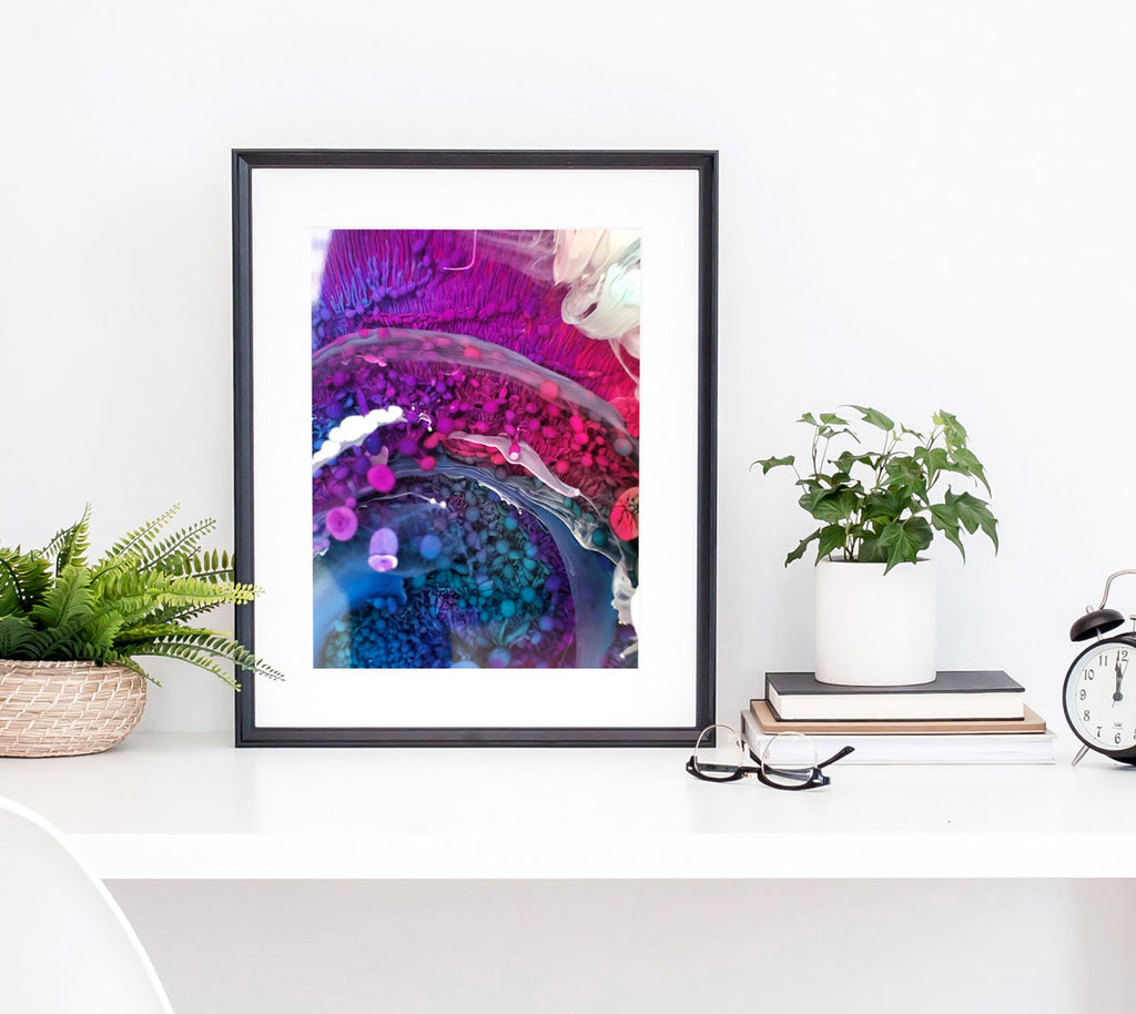 Rainbow Macro Photo Art Print