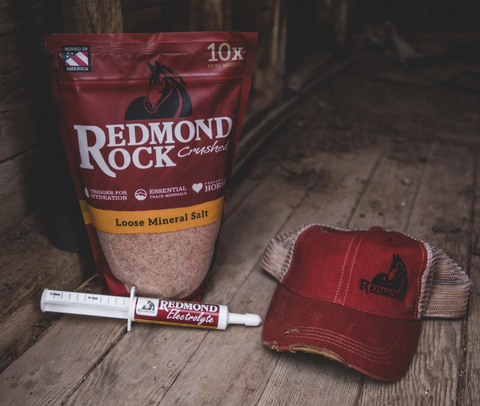 Redmond Rock Crushed, Redmond Electrolyte Paste, and redmond hat
