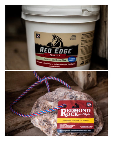 Red Edge Poultice and Redmond Rock on a Rope