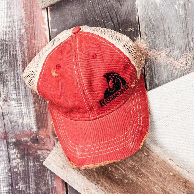 Redmond Equine - Distressed Hat (red)