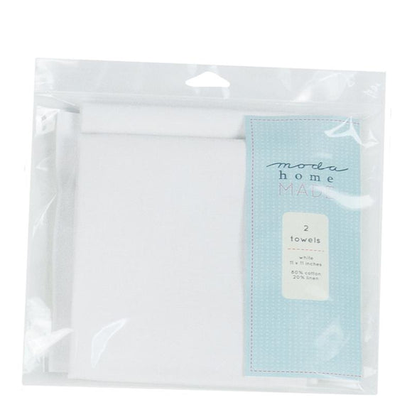 999 41 WHITE TEA TOWEL / set of 2