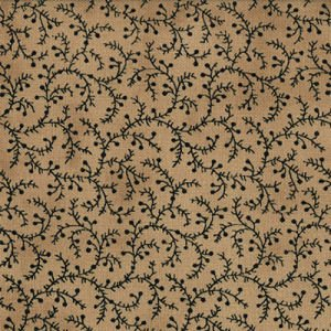 1083-11  Little Scrolling Vines All Over - Paper Bag (Tan) w/Dk. Navy