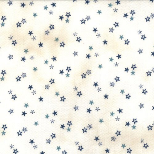 1084-13  NAVY STARS ON TALLOW WHITE