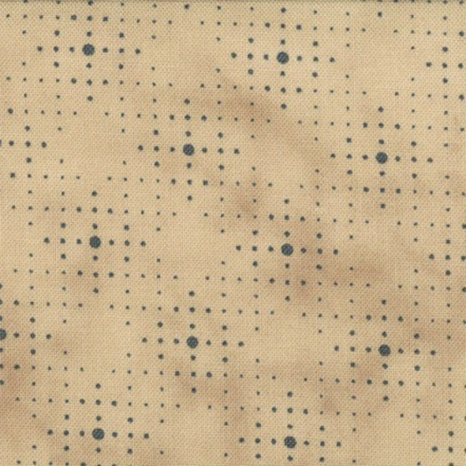 1087-25  Creamy Tan background with soft Blue Grid