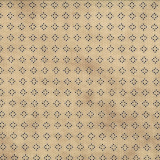 1088-19 Tan background with Navy Dotted Squares