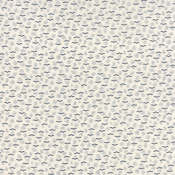 1126-13  Lakeside Gatherings Cream w/Navy Print