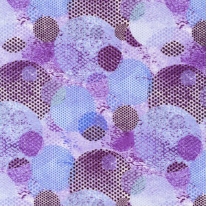 Dotted Circles Blue/Purple with Black Dots