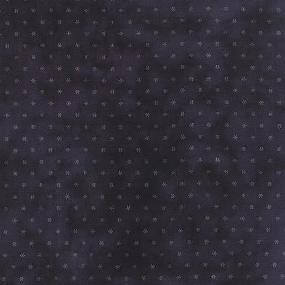 1142-17  Snowman gatherings II Navy background with Cream snowflakes
