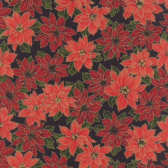 33102 14M - Poinsettias Black