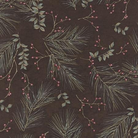 6632 20 - Holly Taylor Seasonal Winter Pines Brown