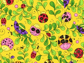22374-S  Cute As A Bug-Lady Bugs-Yellow