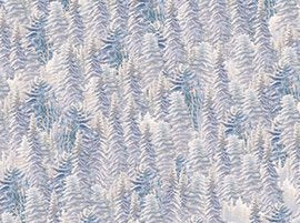 23597-ZB  Frost Blue Pine Trees
