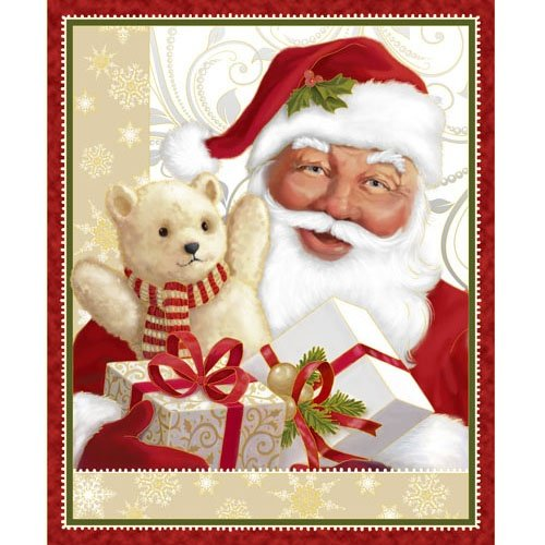23942-R  Red  St. Nick Panel