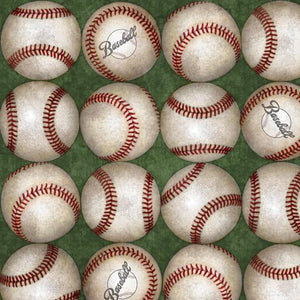 24912-Y   Grand Slam - Baseballs - Green