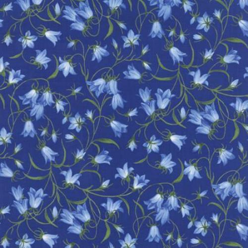 32944 15 Floral Bluebells Dark Blue