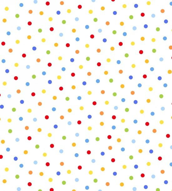 3676-1 - Multi Double Gauze Polka Dot