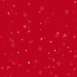 6934-88  Star snowflakes on red background
