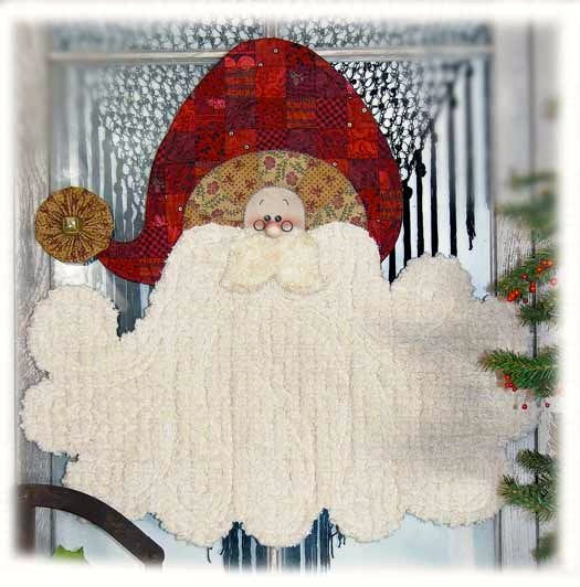 772 Chenille Bearded Santa