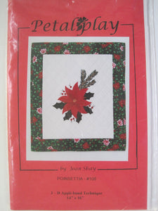 "108 Petal Play Pattern ""Poinsettia"" - by Joan Shay"