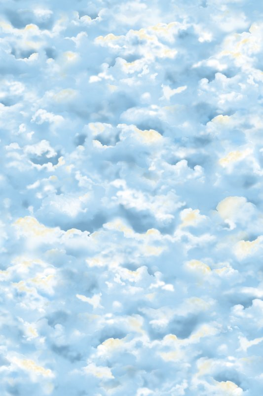 23614-B Clouds Blue