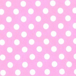 EESMIP150-WPI  Light Pink With White Dots Minky
