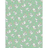 98594-735 - Cats at play w/Ribbons Green