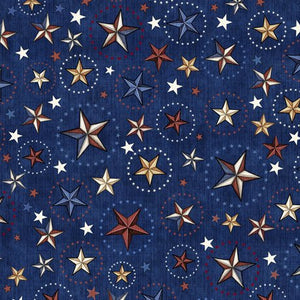 Navy With Stars - 24811-N