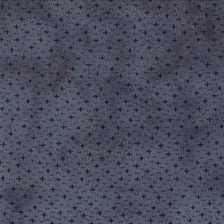 1085-17  Mottled Blue with Tiny Navy X's