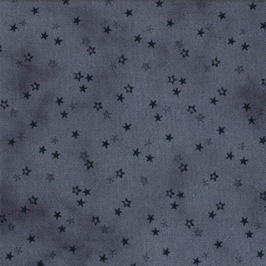 1084-17  Mottled Blue background with Navy Stars