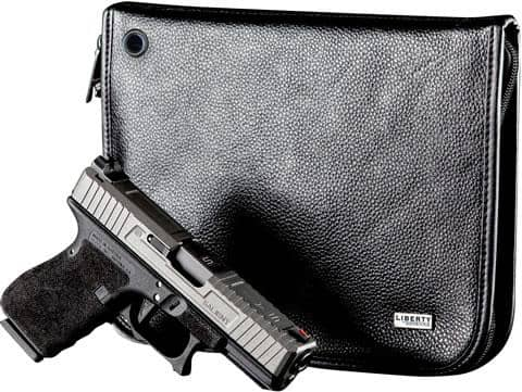 Magnetic Compact Handgun Case (Leather) (8 x 11)
