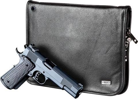 Magnetic Full Size Handgun Case (Leather) (9 x 12)