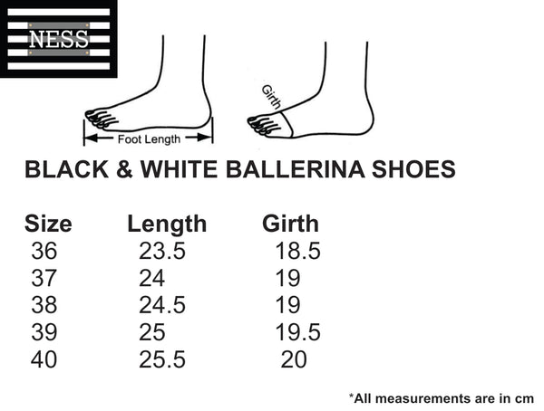 Black & White Ballerina Shoes