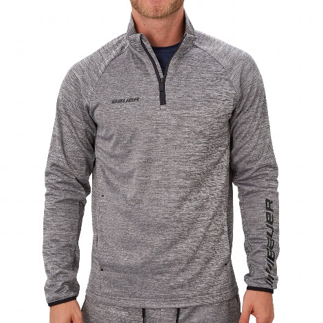 Bauer Hoodie Fleece-1/4 Zip Top Vapor - Youth