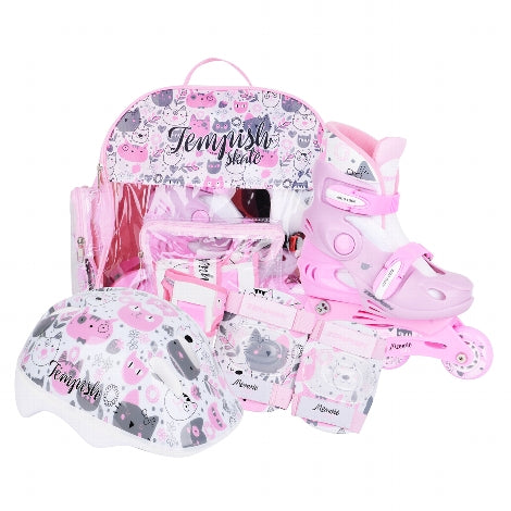 Tempish Inline Skate Set Baby Kitty verstellbar