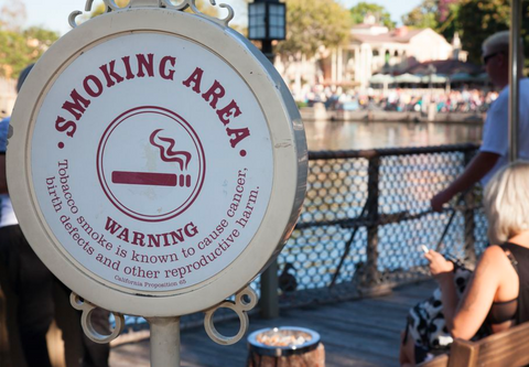 Disneyland Smoking Area