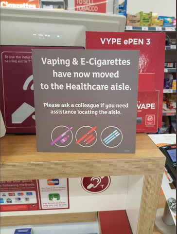 Vaping Products in the Healthcare Aisle