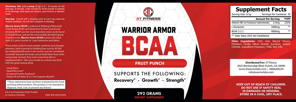 Warrior Armor BCAA  (FRUIT PUNCH)