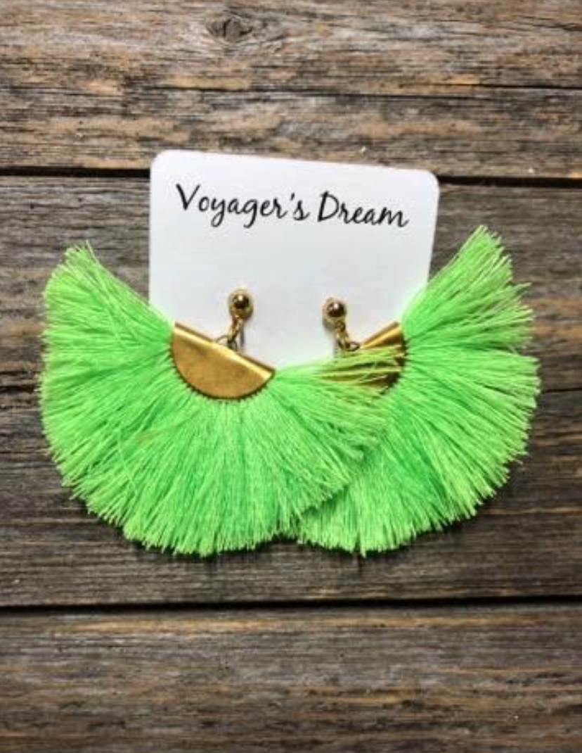 Neon Green - Fan Tassel