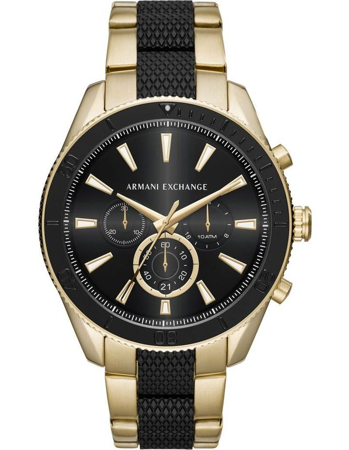 Armani Exchange Men's Black Analog-Quartz Watch with Stainless-Steel Strap (AX1814)