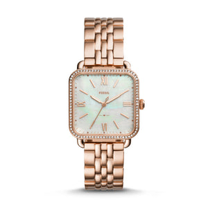 Fossil Micah Three-Hand Rose Gold-Tone Stainless Steel Watch (FS4269)