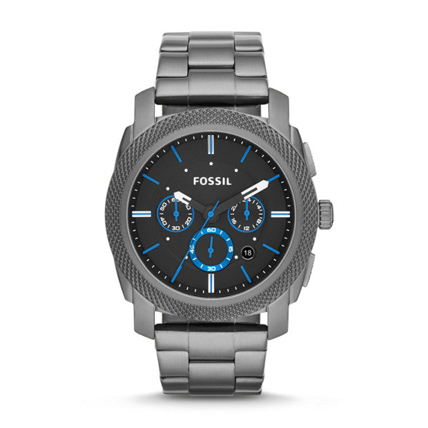 Fossil Machine Chronograph Smoke Stainless Steel Watch (FS4931)